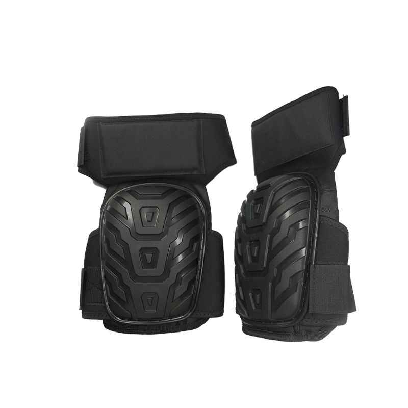 1 Pair Professional Heavy Duty Work Knee Pads Protection Gel Cushion With Adjustable Straps Safe PVC Shell