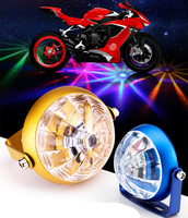 New LED Car Motorcycle RGB Chassis Tail Light LED Laser Fog Lights Taillight Anti Fog Parking