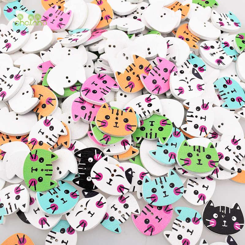 Chainho, 10 шт./пакет, смешанный цвет 2 отверстия, серия кошек, Деревянные Кнопки DIY Скрапбукинг лоскутное шитье/ремесла и украшения дома