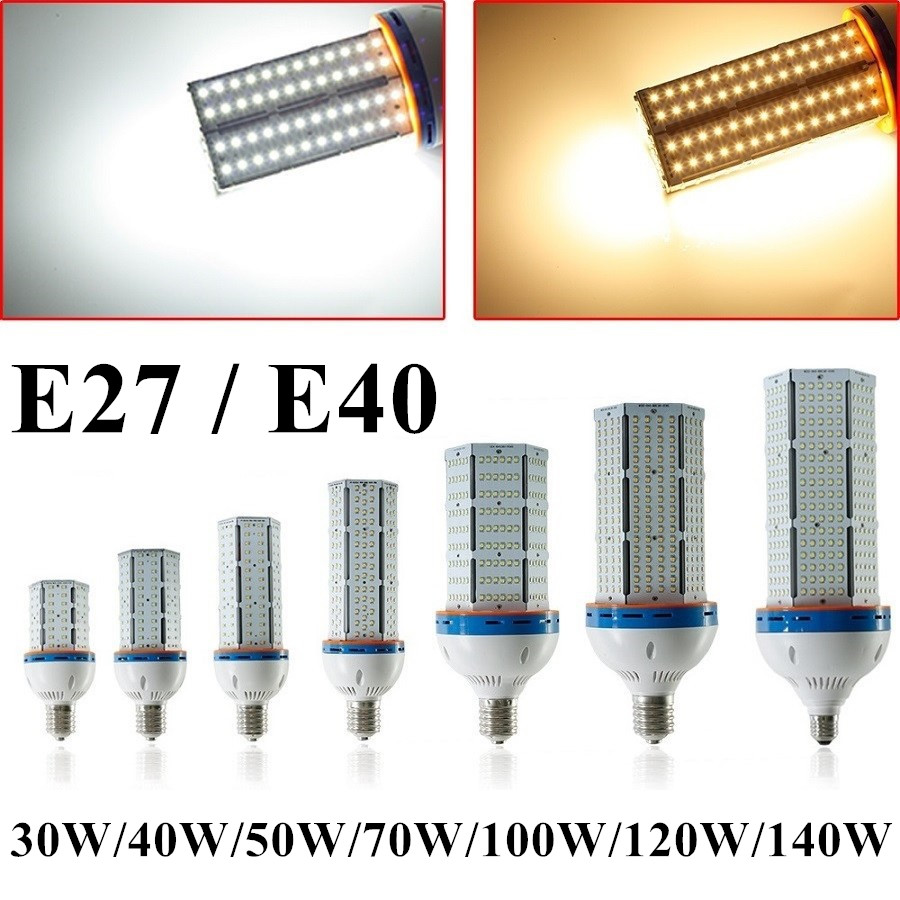 E27 Led 100w Us 50 E27 E40 30w 40w 50w 70w 100w 120w 140w Led Corn Lights Cool Warm White Smd2835 Cylinde Super Bright Led Corn Lamp Lighting In Led Bulbs