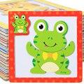Juguetes para bebés de 3 unids/lote 3D rompecabezas magnéticos juguetes de madera Tiger / Bear / animales de dibujos animados rana rompecabezas Tangram niño regalo educativo