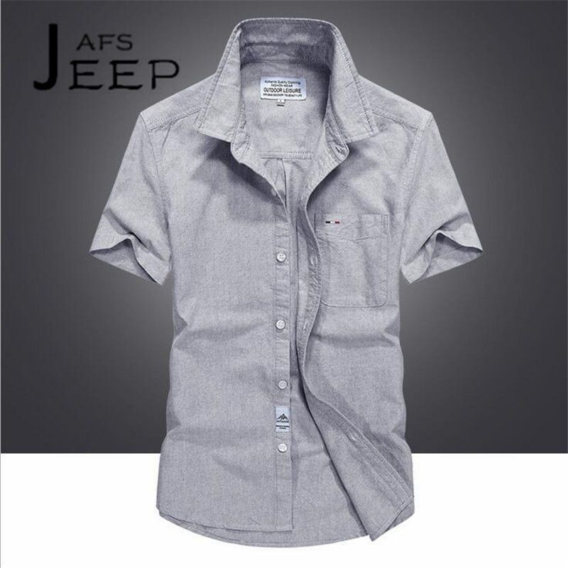 JI PU Fashion Design Summer Mans Slim Casual Pure Cotton Short Sleeve Shirt,Camisa de color solido ocasional de los hombres