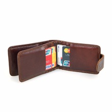 Augus Genuine Leather Fashion Style Mens Card Holder Vintage ID Business Case R-8121Q