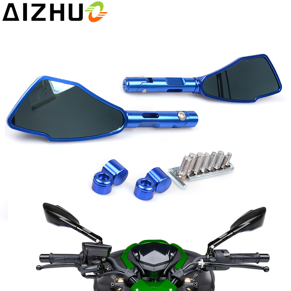 FOR Yamaha YBR125 msx125 FZ6 FZ1 FZ09 FZ07 MT07 MT09 MT 03 PCX Motorcycle Rearview Mirrors Motor Universal Rear View Side Mirror in Side Mirrors Accessories from Automobiles Motorcycles