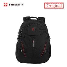 Swisswin mochila hombres laptop mochila ordenador para viajes de negocios y urbano negro ligero femenino mochila sac a dos
