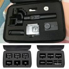 Карданный DIY Корпус хранение дорожных сумок коробка Водонепроницаемый чехол для Gopro Hero 7 6 5 4 3 + серии Xiaomi Yi 4 K SJCAM Sj4000 EKENH9 SONY