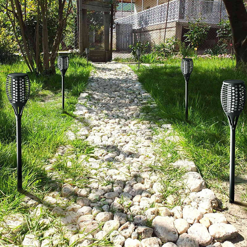 IP65 Waterproof LED Solar lights Solar Powered Garden Decorative Path Road Lamps 12V Torch Lights Outdoor Dancing Flame aimihuo solar energy led pool lights outdoor pool lights solar water drifting hotel fountain lights