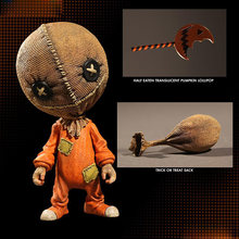 Mezco Trick R Treat estilizado Sam figura de acción truco o trato Halloween decoración regalo muñeca(China)