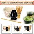Tee Service Bambus Natürliche Matcha Grüner Tee Pulver Schneebesen Scoop Keramik Schüssel Gesetzt Japanischen Teegeschirr Zeremonie