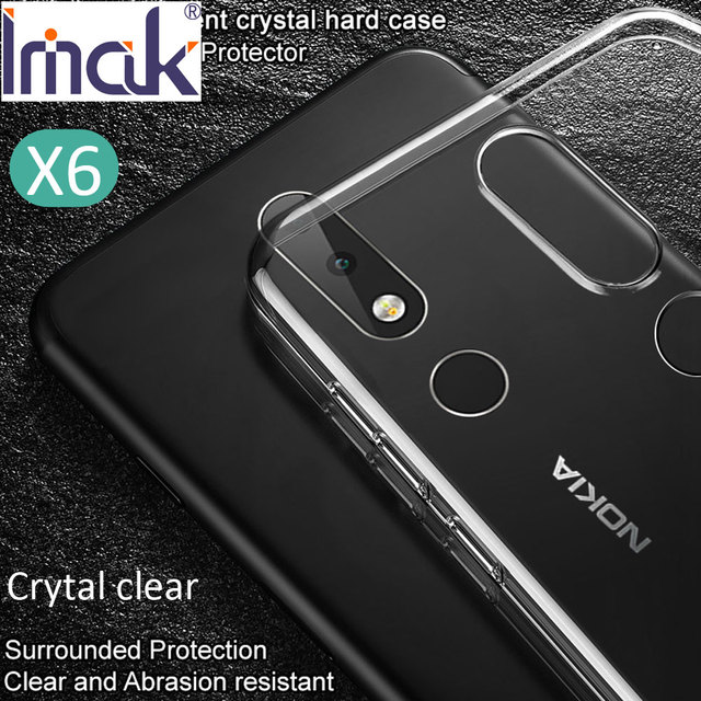 new product 9a3d2 722ca US $4.98 |Imak Air Crystal Clear Transparent Case For Nokia 8.1 6.1 5.1  Plus Hard PC Plastic Cover-in Half-wrapped Case from Cellphones & ...