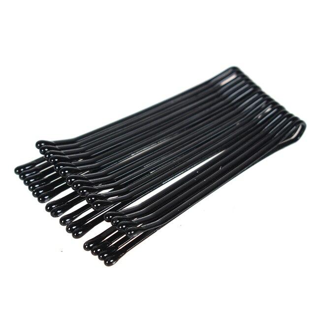 Horquillas para el cabello negras para mujer, horquillas invisibles, pinzas para el cabello de salón, Barrette, 60 piezas