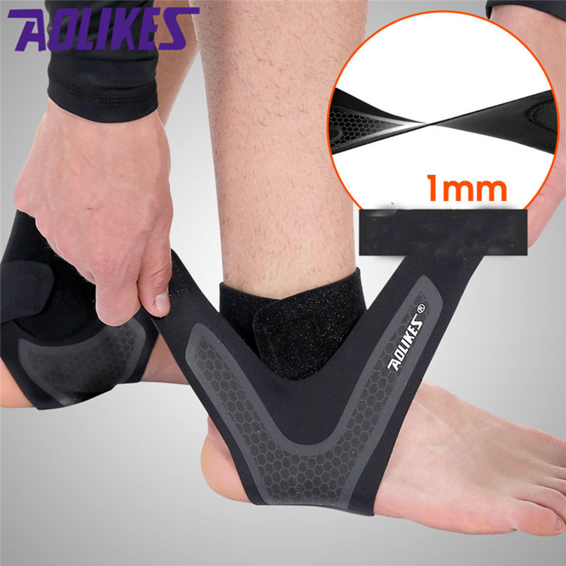 2019 Sports Ankle Support Elastic Sleeve Bandage Wrap Compression Foot Brace Protect Sbr Neoprene Prevents Ankle Strain
