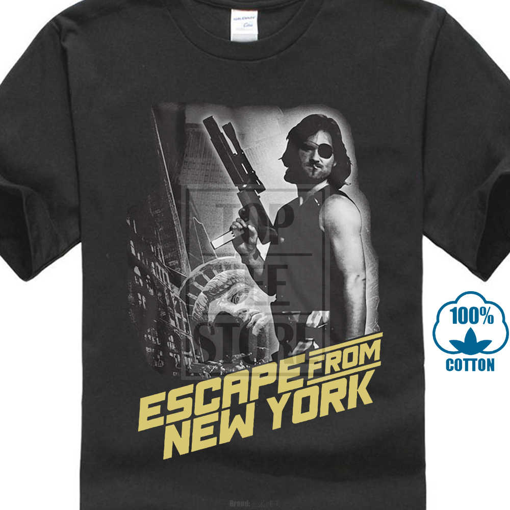 9eba18e92bb Escape From New York White Background Kurt Russell Adult T Shirt Great Movie