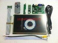 10,1 1024*600 ЖК дисплей модуль монитор Экран дисплея + HDMI/VGA/2AV доска + Реверсивный драйвер платы с сенсорным Панель