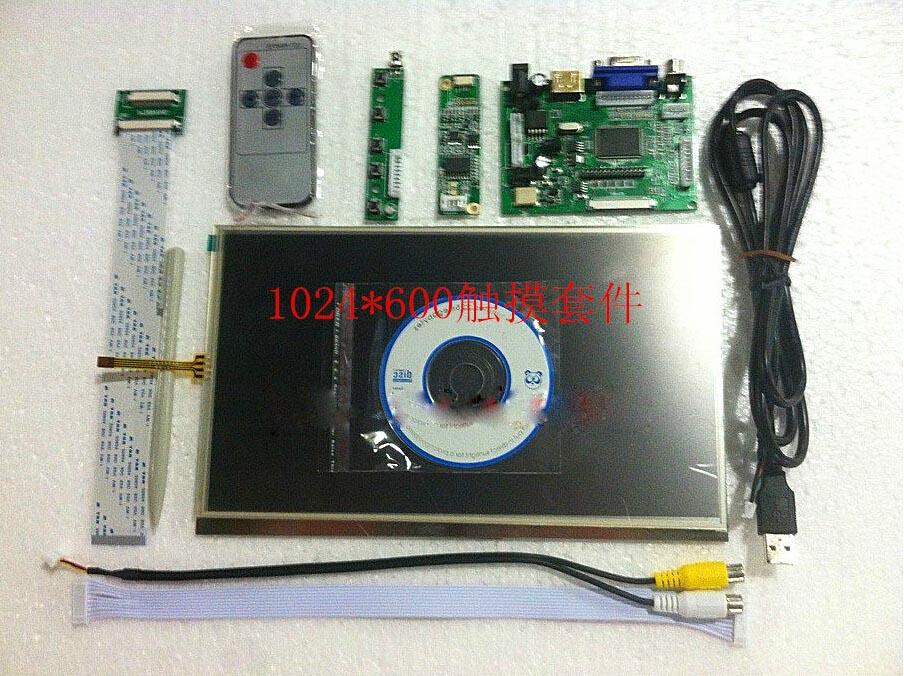10.1 1024*600 LCD Modulo Schermo di Visualizzazione del Monitor + HDMI/VGA/2AV Bordo di Driver Retromarcia bordo con Touch Panel10.1 1024*600 LCD Modulo Schermo di Visualizzazione del Monitor + HDMI/VGA/2AV Bordo di Driver Retromarcia bordo con Touch Panel