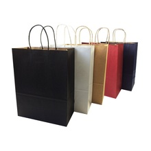 10pcs/lot Gift Paper Bags With Handle 33*25*12cm Vertical Multifuntion Environment Friendly Party Bag Package