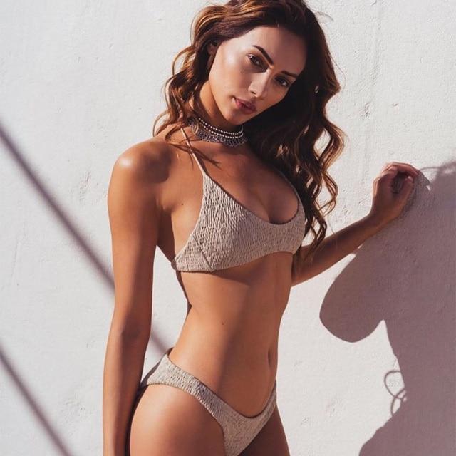 New Sexy Girls Bikini 2017 Push Up Pleated Swimwear Women Push Up Bra Bikini Set Swimsuit Beach Bathing Swimwear Purchasing