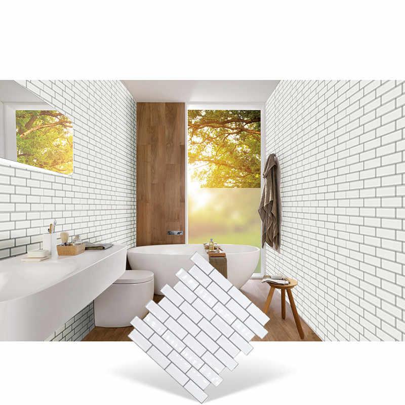 """מלא סדרת עיצוב יוקרה קל Diy להסיר קיר דקור 10 """"* 10"""" מטבח אמבטיה בית תפאורה קיר אריח מדבקת קיר"""