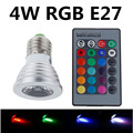 10PCS RGB LED Bulb  4W E27 E14 spotlight bulb 16 Color Change Lamp spotlight 110V 220V for Home Party decoration with IR Remote