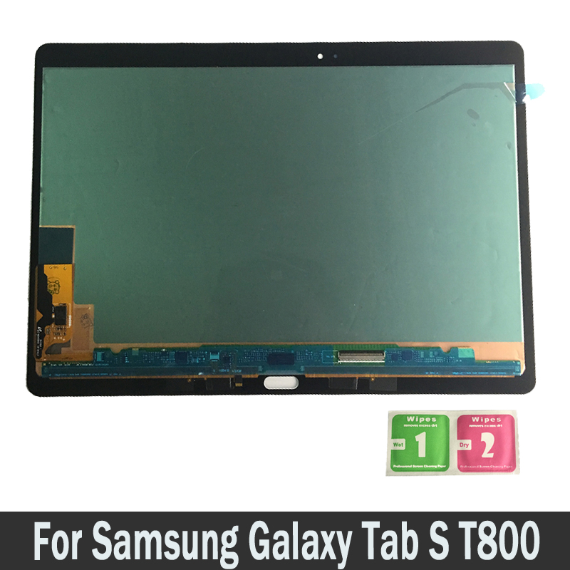 For Samsung GALAXY Tab S T800 T805 SM-T80 100% Tested LCDs Touch Screen Digitizer Sensors Full Assembly Panel Replacement Parts