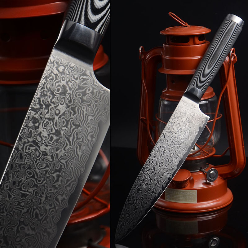 HIGH QUALITY LD 8 inch chef font b knife b font Japanese Damascus kitchen font b