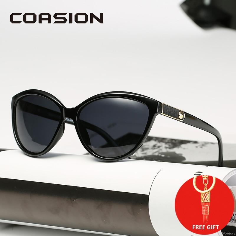 COASION Brand Design Cat Eye Sunglasses Women Polarized 2019 Lady Retro Elegant Cateye Sun Glasses UV400 Protection CA1223