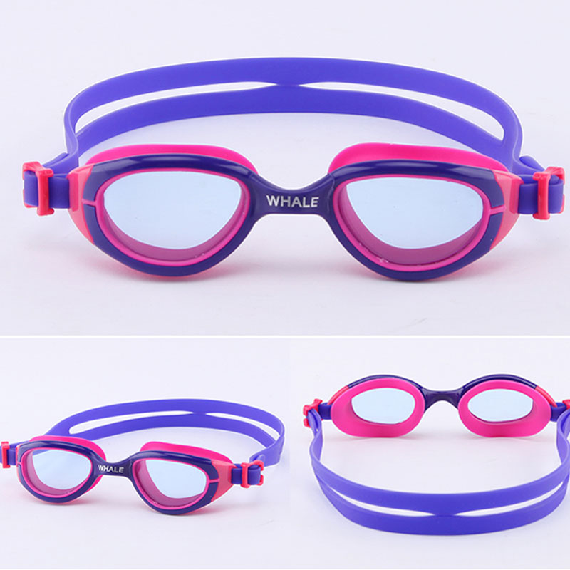 Whale Children baby Swimming Waterproof Goggles Anti-fog Lights Lens Silicone Frame Swim Goggles Child kids Pool Glasses