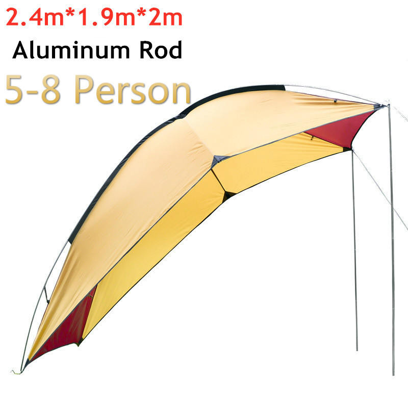 5-8 Person Portable Waterproof Camping Tourist <font><b>Tent</b></font> <font><b>Outdoor</b></font> Picnic Barbecue Anti UV Rain Proof Shade Shelter Awning <font><b>Car</b></font> <font><b>Tents</b></font> image