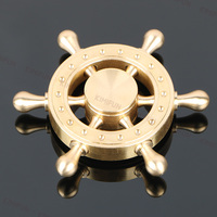 Pure Copper Removable Fidget Spinner Metal Hand Spinner Pirate Rudder Toys For Adults Stress Relief Spinner