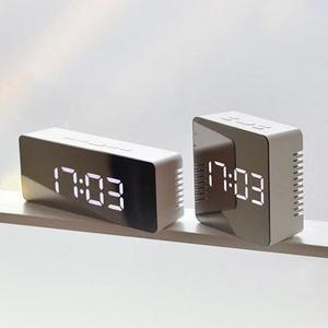 Digital Clock Mirror Despertador Led-Light Snooze-Display Time Table Desktop 140mm