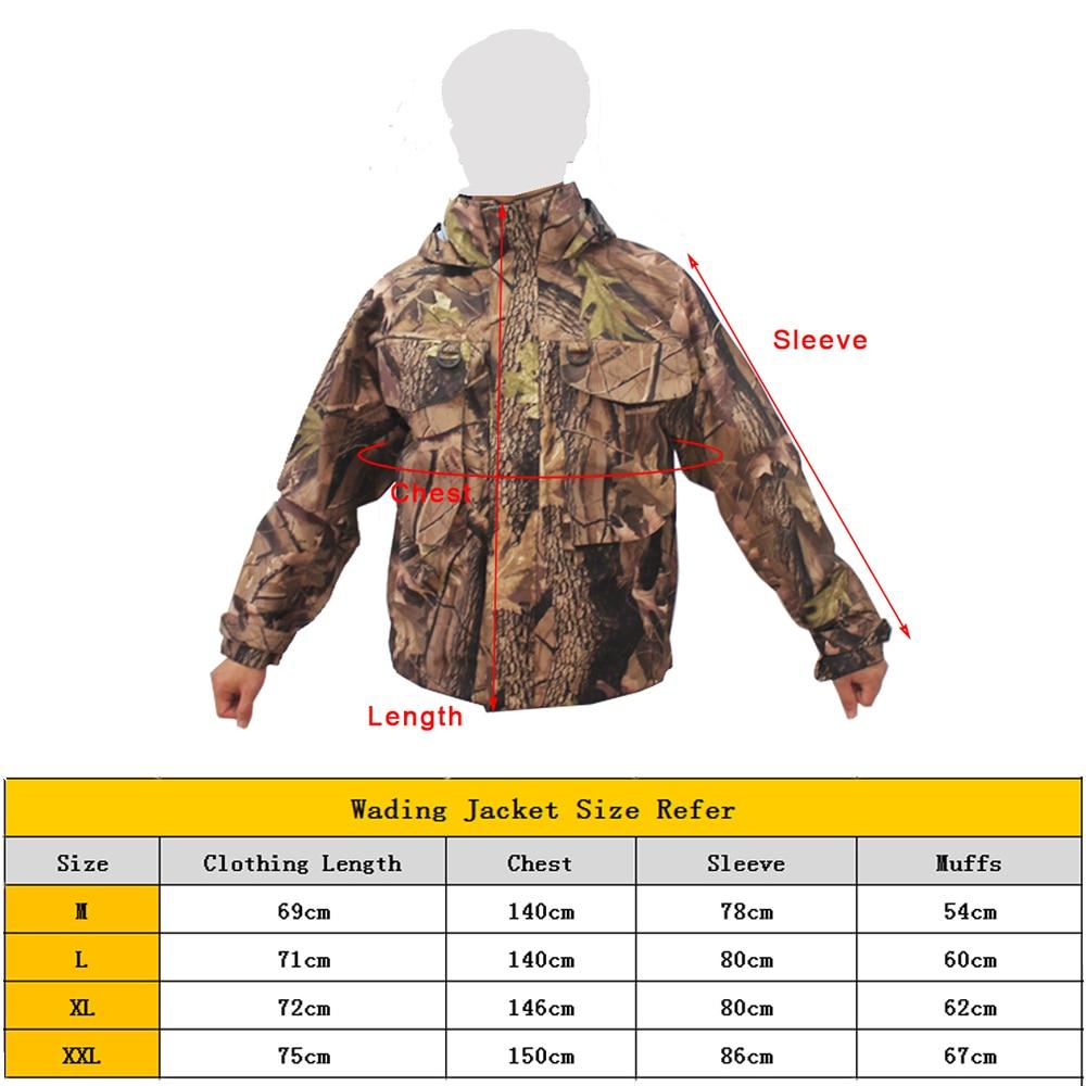 New Men's Breathable  Fly Fishing Wading Jacket  Waterproof  Fishing Wader Jacket  Clothes Outdoor Hunting Fishing Clothing