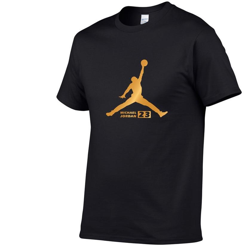 Newest 2019 Summer Men   T  -  Shirt   Fashion Jordan 23 Brand Logo Print Cotton   T     Shirt   Men Trend Casual Short Sleeve Tshirt Tops Tee