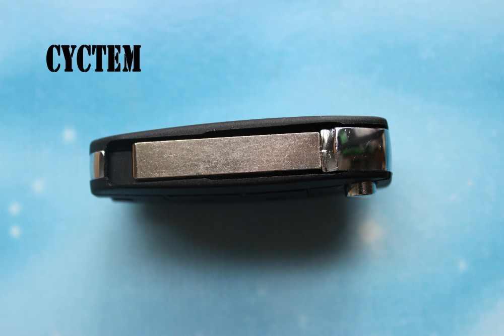 CYCTEM luz!!! 2 przyciski zaktualizowane zdalny klucz składany Shell Fob samochód klucz skrzynki obudowy nadające się do Peugeot 307 407 HU83 ostrze