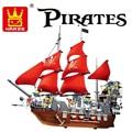 Kits de edificio modelo compatible con lego city blcack barco Pirata barba 3D bloques Educativos modelo & building juguetes aficiones