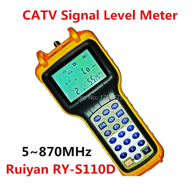 High Precision Analog CATV Signal Level Meter RY-S110D 5~870MHz