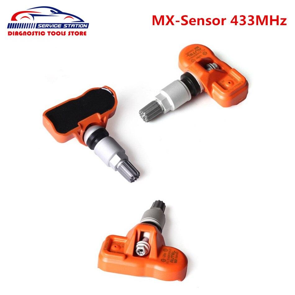 Цена за На Складе Autel MX-Датчик 433 МГЦ Программируемый TPMS Датчик MX Датчик 433 МГц Встроена Поддержка для Давления в Шинах Замена датчика