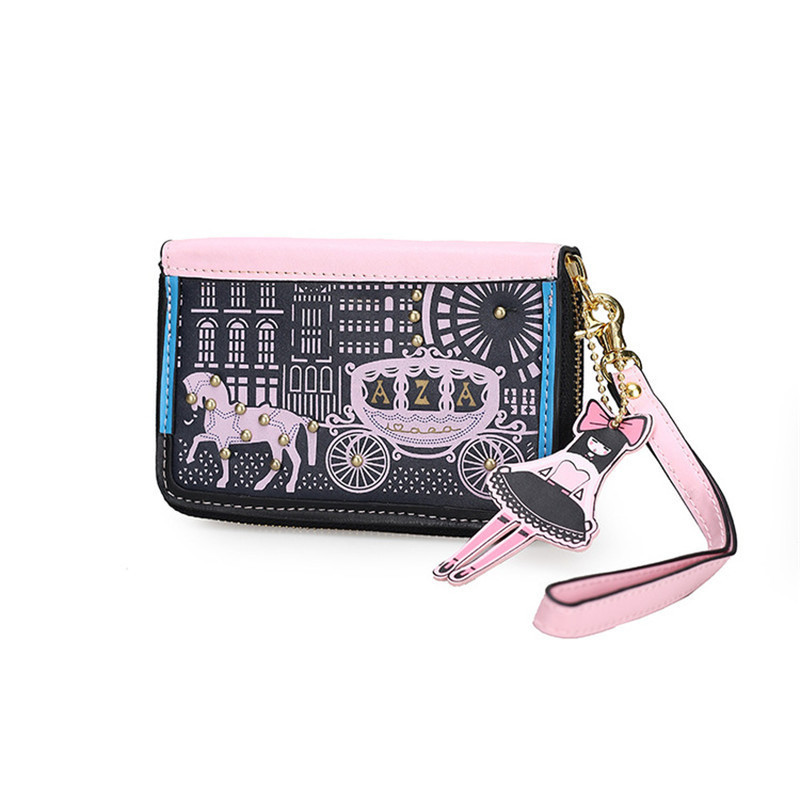 Cartoon Horse women purse bag designer wallets famous brand women wallet long money clip dollar price zipper coin pockets anime cartoon wallet doctor who adventure time jack zelda and minions purse three fold wallets dollar price