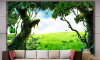 customize 3d photo wallpaper Forest forest landscape 3d wallpaper walls for living room 3d stereoscopic wallpaper