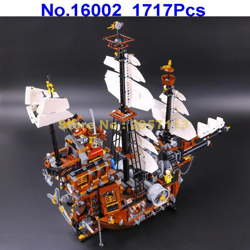 LEPIN 16002 1717pcs Pirate Ship Imperial warships Building  Block Compatible 70810 Brick Toy new pirate ship imperial warships model building kits block bricks figure gift 1717pcs compatible lepines educational toys