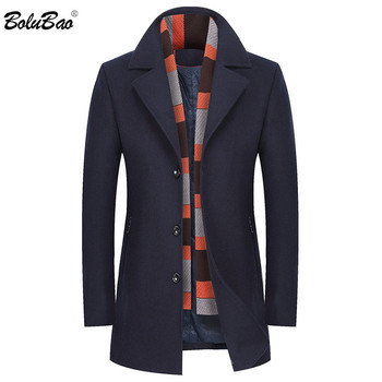 BOLUBAO Men Winter Coats 2019 Men's New Business Casual Simple Warm Thick Male Trench Coat Fashion Overcoat Wool Blends Mens