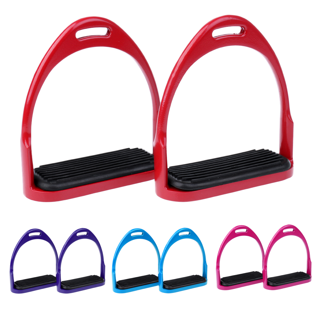 MagiDeal 1 Pair  Aluminum Stirrups 300kg Capacity Horse Riding Equestrian Safety With Anti Skid Treads Equipment For Outdoors