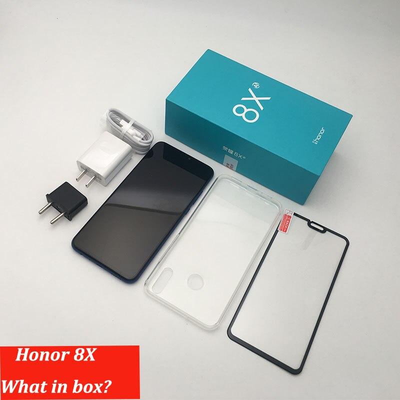 Rom globale Huawe Honor 8X6.5 ''plein écran OTA mise à jour Smartphone pas 8x max téléphone portable Android 8.1 Octa Core identification d'empreintes digitales - 6