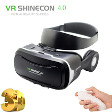 Virtual Reality goggles 3D Glasses VR Shinecon 4.0 with HIFI headphone google cardboard VR BOX 2.0 VR headset For smartphone