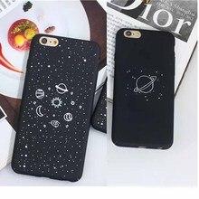 Дирижабль Астронавт Звезды Чехол Для iPhone 6 Чехол Для iphone 6 S 6 Плюс 7 плюс 7 Лунная Ночь Телефон Случаях Высокотехнологичный Космический Рисунок крышка