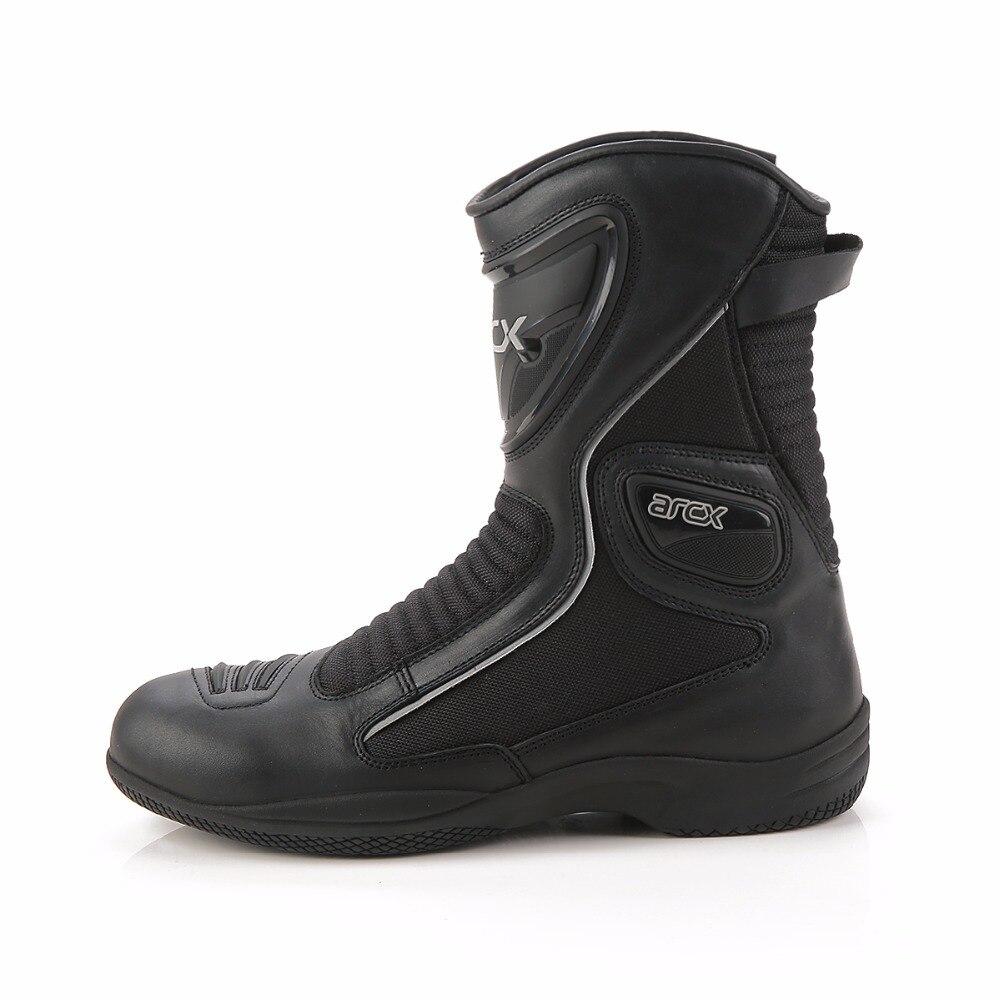 ARCX Sommer Männer Frauen Motorrad Leder Atmungsaktive Stiefel Schuhe Racing Racing Lange Boot Wasserdichte Motorrad Jahreszeiten Stiefel