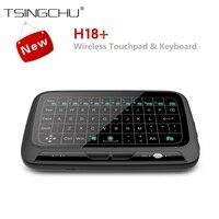 Original H18 Plus 2 4GHz Backlit Wireless Mini Remote Control H18 Whole Panel Touchpad Mouse