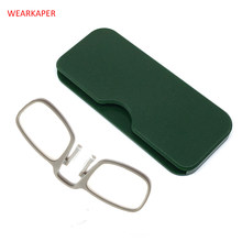 86e8168d5a WEARKAPER Ultra Slim Portable SOS Wallet Reader Mini Reading Glasses With  Case Universal Readers Glasses Diopter +1.0 1.5 2 2.5