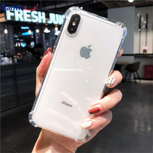 TPU Airbag Anti-Knock Case For New Iphone11 Iphone11 Pro 11Pro Max Crystal Clear Cover For iPhone XMAX XR XS 6S 7 8P Capas Coque