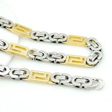Fashion Gold & Silver Chain Necklace Bracelets Set