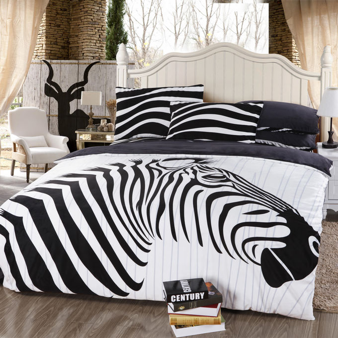 Zebra Animal Print Black White Bedding Set Queen Size Bedspread Duvet Cover  Designer Bed In A Bag Sheet Quilt Linen Bedsheet In Bedding Sets From Home  ...